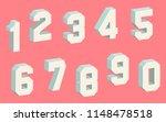 3d block numbers | Shutterstock .eps vector #1148478518
