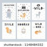 cute hand drawn set of nursery...   Shutterstock .eps vector #1148484332