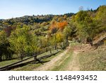 park autumn landscape with... | Shutterstock . vector #1148493452
