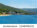 monastery buildings on mount... | Shutterstock . vector #1148498132