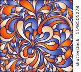 silk texture fluid shapes ... | Shutterstock .eps vector #1148505278