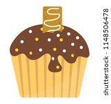 dark chocolate cream on a... | Shutterstock .eps vector #1148506478