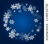 winter snowflakes border trendy ... | Shutterstock .eps vector #1148510735
