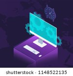 web development concept ... | Shutterstock .eps vector #1148522135