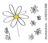 vector set of daisy flower... | Shutterstock .eps vector #1148531588