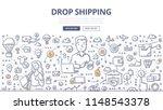 doodle vector illustration of a ... | Shutterstock .eps vector #1148543378