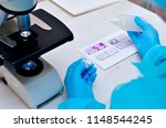 microscope. microbiological...   Shutterstock . vector #1148544245