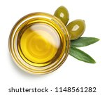 bowl of fresh extra virgin... | Shutterstock . vector #1148561282
