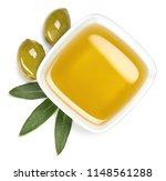 bowl of fresh extra virgin...   Shutterstock . vector #1148561288