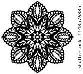 flower mandala. vintage... | Shutterstock .eps vector #1148576885
