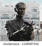 statue of the famous poet ... | Shutterstock . vector #1148587142