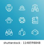human resource icon set and hr...