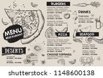 restaurant cafe menu  template... | Shutterstock .eps vector #1148600138