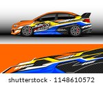 car wrap design vector  truck... | Shutterstock .eps vector #1148610572