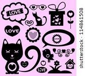romantic elements set | Shutterstock .eps vector #114861508