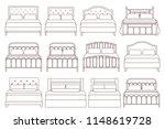 bed. vector. furniture icon set ... | Shutterstock .eps vector #1148619728