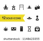 healthy icons set with cooking...