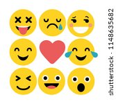 set of emoticons. set of emoji | Shutterstock . vector #1148635682