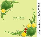 flat lay fresh vegetables on...   Shutterstock .eps vector #1148639738