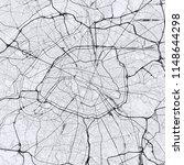 light paris city map. road map...   Shutterstock .eps vector #1148644298