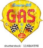 vintage gas station sign ...   Shutterstock .eps vector #114864598