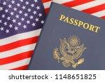 american passport close up on...   Shutterstock . vector #1148651825