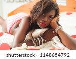portrait of beautiful ebony... | Shutterstock . vector #1148654792