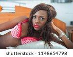 portrait of beautiful ebony... | Shutterstock . vector #1148654798