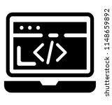a html source code on laptop... | Shutterstock .eps vector #1148659892