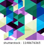 multicolored triangles abstract ... | Shutterstock .eps vector #1148676365
