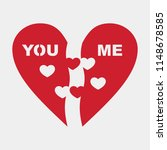 half of heart vector | Shutterstock .eps vector #1148678585