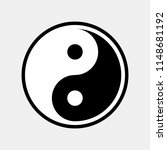 yin yang icon vector | Shutterstock .eps vector #1148681192