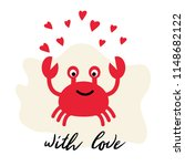 vector illustration of crab and ... | Shutterstock .eps vector #1148682122