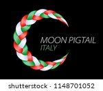 colorful pigtail italy flag.... | Shutterstock .eps vector #1148701052