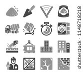 cement and concrete icon set | Shutterstock .eps vector #1148718218