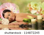 spa woman. spa salon | Shutterstock . vector #114872245