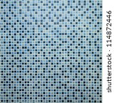 Blue Mosaic Tiles Background