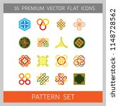 pattern icon set. hexagon... | Shutterstock .eps vector #1148728562