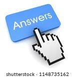 Answers Button Concept 3d...