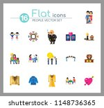 people icon set. family showing ... | Shutterstock .eps vector #1148736365