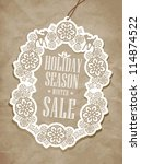 christmas tag | Shutterstock .eps vector #114874522