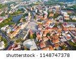aerial view of city pribram ... | Shutterstock . vector #1148747378
