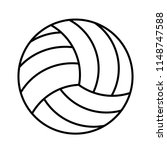 volleyball ball icon on white... | Shutterstock .eps vector #1148747588