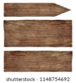 empty old weathered wooden signs   Shutterstock . vector #1148754692