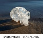 clear quartz carved elongated... | Shutterstock . vector #1148760902