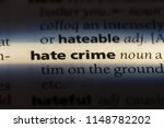 Hate Crime Word In A Dictionar...