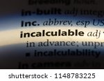 Small photo of incalculable word in a dictionary. incalculable concept.