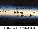 icing word in a dictionary.... | Shutterstock . vector #1148783858