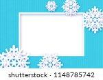 blue christmas winter background   Shutterstock . vector #1148785742