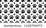 dog paw seamless pattern vector ... | Shutterstock .eps vector #1148796572